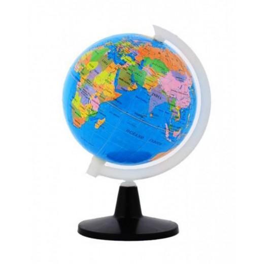 Globo terraqueo bola del mundo con países pequeña para estudio mini