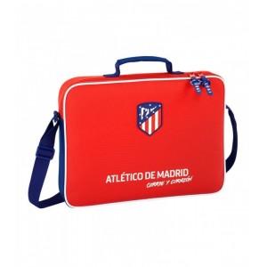 Cartera maletin para portatil y libros oficiall del atletico de madrid bandolera