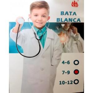 Bata blanca de medico con bolsillos para niño y niña disfraz enfermera Infantil