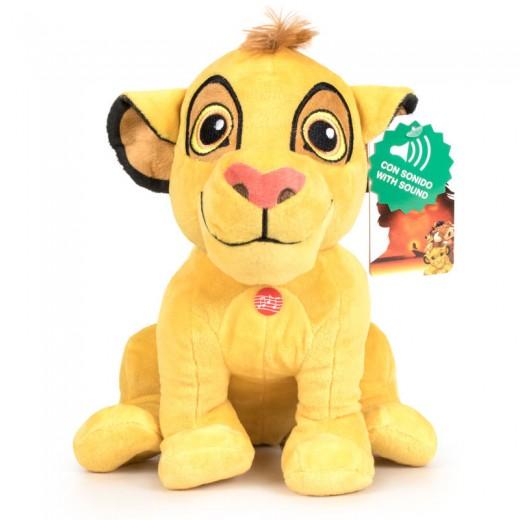 Peluche de Simba El Rey Leon Disney soft con sonido 30cm grande