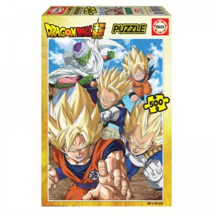 Puzzle de Dragon Ball Z de 500 piezas puzle de son goku Vegeta EDUCA