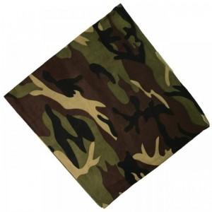 Bandana de camuflaje Woodland pañuelo para cabeza color militar caza