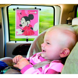 Parasol para ventanilla de coche de Minnie Mouse Disney Enrollable cortinilla 48