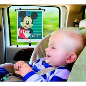 Parasol para ventana de coche de Mikey Mouse anti sol cortinilla ajustable