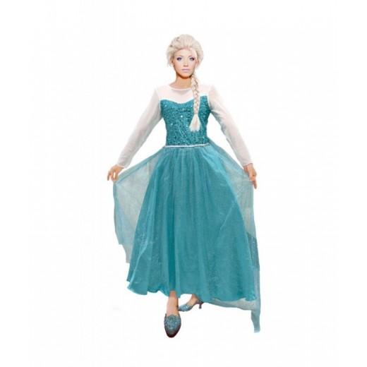 Disfraz de la reina de Hielo tipo Frozen Elsa carnaval para Mujer Adulto
