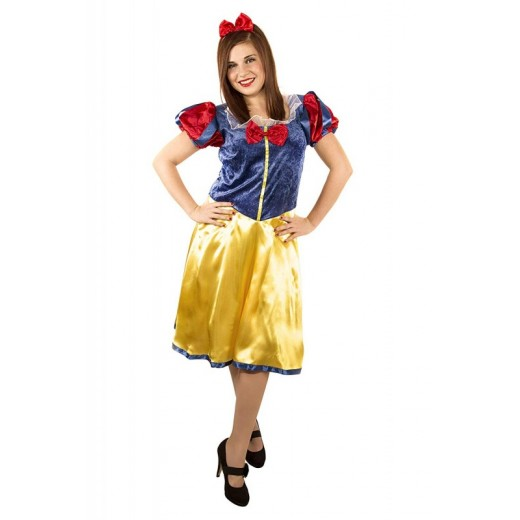Disfraz de BlancaNieves traje para adulto de Blanca Nieves corto traje de mujer