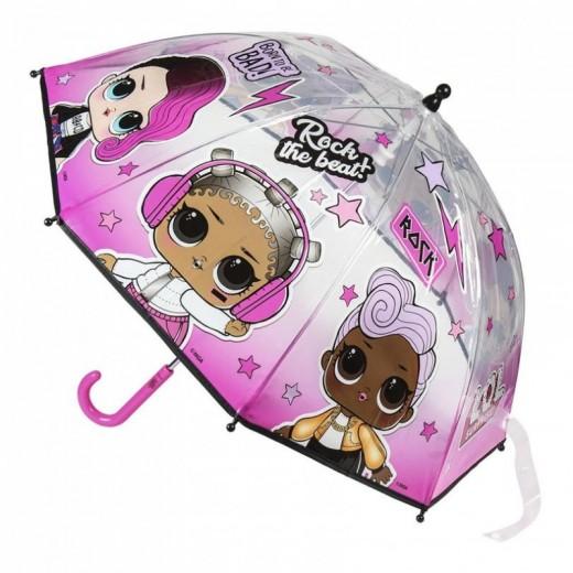 Paraguas Lol Surprise l.o.l. de transparente muñecas lol suprise Rock 45 cms