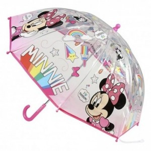 Paraguas de Minnie Mouse transparente de Mini Novia de Mickey Mouse Disney