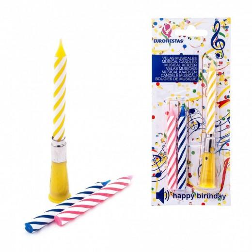 Velas musicales para compleaños con musica vela para tarta feliz cumpleaños