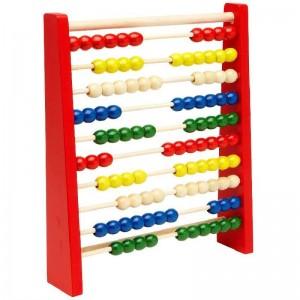 Abaco de madera de colores para aprender a contar juego educativo