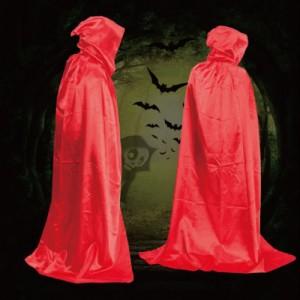 Capa con capucha roja tipo túnica vampiro para disfraz color rojo monje