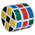 cubo de rubik cilindrico raro con forma de cilindro 3x3 de colores