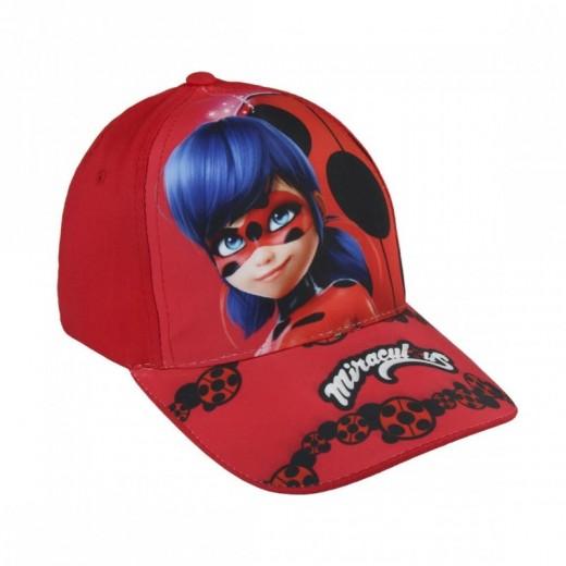 Gorra de ladybug para niña roja gorra con visera de Miracolous Nueva playa
