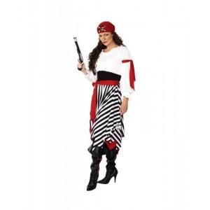 DISFRAZ de Pirata Bucanera traje de mujer PIRATA para Caranval fiesta piratas