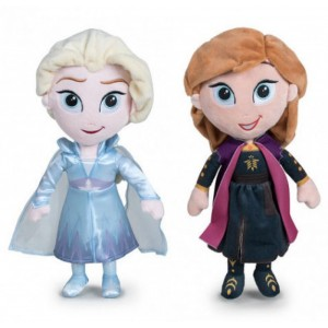 Peluches de Elsa y Anna de Frozen 2 Disney grandes 30cm muñecas Ana