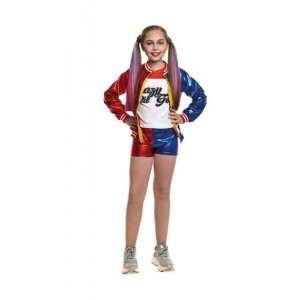 Disfraz de Harley Quinn Joker's Baby para niña Infantil Carnaval Cosplay traje