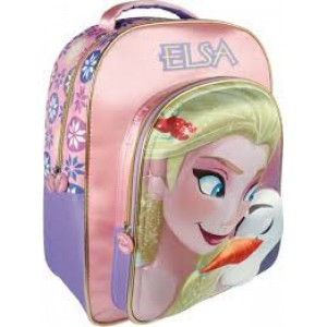 Mochila 3D de Frozen de Elsa y Olaf Grande 41 cms colegio asas acolchadas