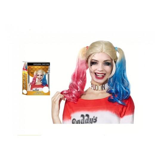 Peluca de Harley Quinn Joker´s Baby para disfraz harlequin talla unica