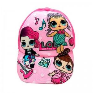 Gorra de las Lol Surprise para niña talla 52 - 53 rosa o fucsia