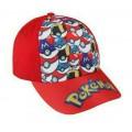 Gorra de pokemon para niño negra o roja gorras con pikachu o pokeballs Pokemons