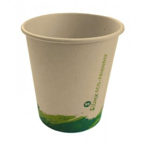 Pack vasos de cartón biodegradables 210cc vaso reciclable carton agua cafe