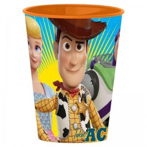 Vaso de toy story 4 para niños con buddy 260ml de plastico buzz pelicula dibujos