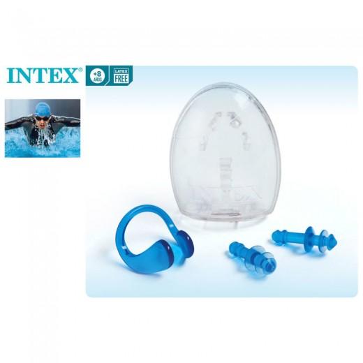 Set de tapones para oidos y clip nasal natación piscina protector con caja