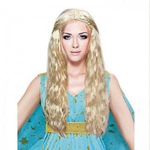 Peluca de Disfraz princesa Dragon juego de tronos tipo daenerys rubia
