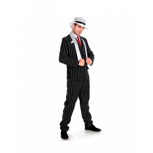 Disfraz de Gangster de la mafia con tirantes traje ganster El padrino Carnaval