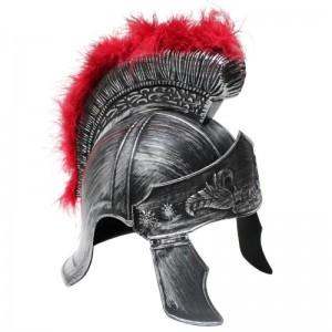 Casco de Romano gorro soldado Romano plateado con cresta Disfraz imperio romano