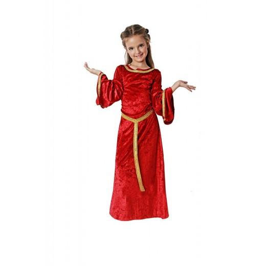 Disfraz de Medieval para niña traje de doncella medieval infantil vestido niña