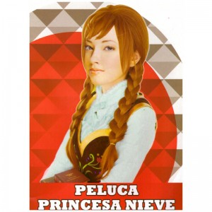 Peluca de Disfraz Pelirroja tipo Anna hermana de Elsa de Frozen Princesa Ana