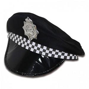 Gorra de policia para disfraz gorro de polica con placa para carnaval despedida