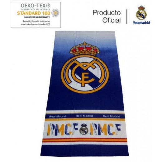 Toalla del Real Madrid Oficial playa y piscina con Licencia 70x140cms RMCF