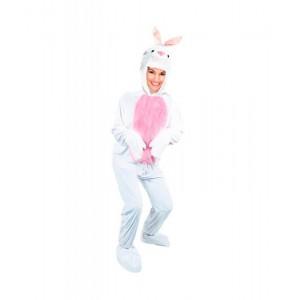 Disfraz de conejo blanco para adulto mono blanco de conejo