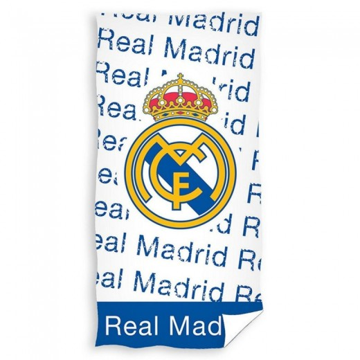 Real Madrid Toalla blanca y azul del REAL MADRID para playa piscina y baño