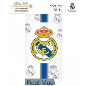 Toalla del Real Madrid Oficial de Algodón, etiquetas y Licencia 75x150cms Nueva