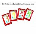 Baraja de Cartas juega a multiplicar juego para hacer multiplicaciones aprender