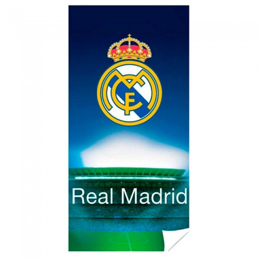 Toalla del Real Madrid de microfibra fondo estadio para playa y piscina Original