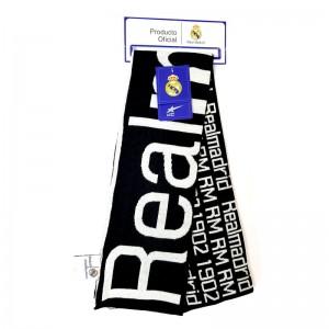 Bufanda del Real madrid doble cara blanca y negra equipo futbol madrid Nueva