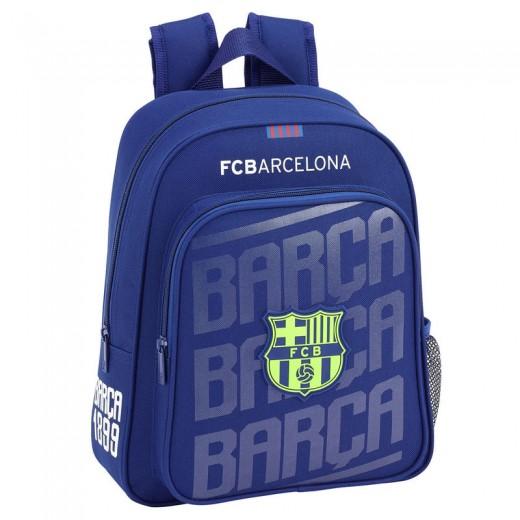 Mochila FC Barcelona Segunda Equipacion 34cm adaptable a carro colegio