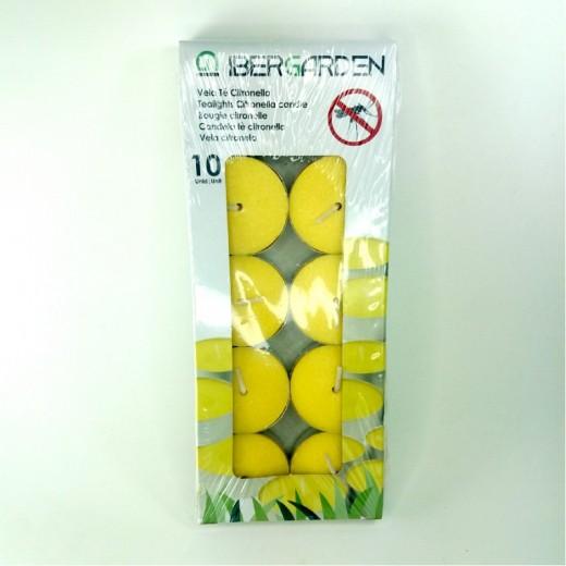 pack velas anti mosquitos de citronela antimosquito 10 vela te pequeñas