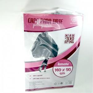 Capa de peluqueria capa para tinte de pelo gris protector tinte 140x90 cms