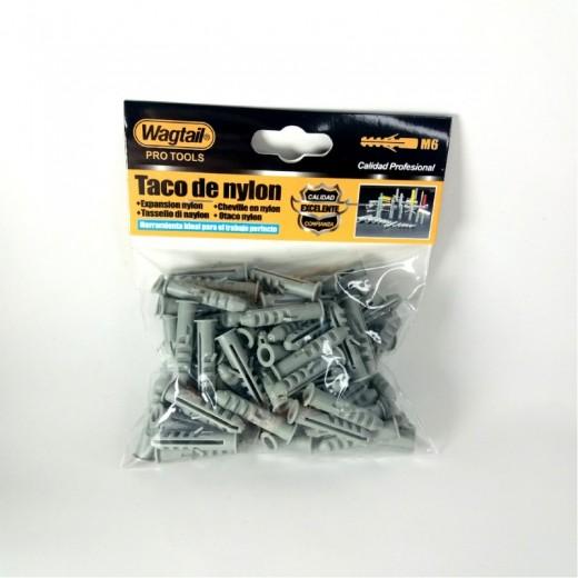 Tacos para pared de 6 milimetros taco de nylon profesional M6 85 unidades