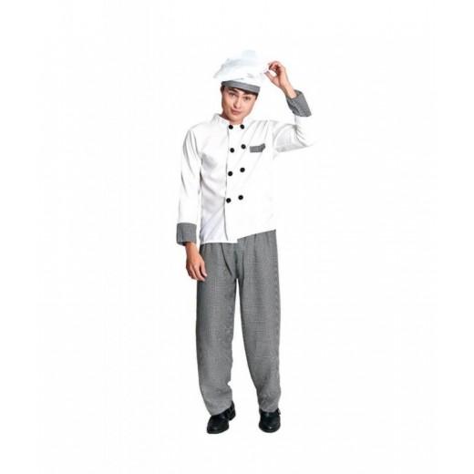 Disfraz COCINERO CHEF Hombre traje carnaval de cocinero con gorro