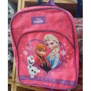 FROZEN Mochila Rosa para colegio de Elsa Anna y Olaf Disney cartera