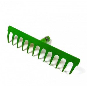 Rastrillo metalico de 10 puntas de hierro para jardin para astil profesional