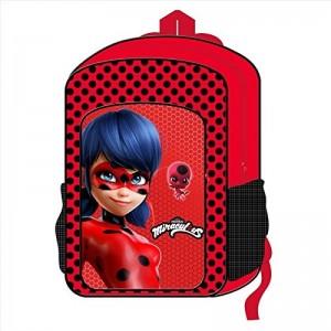 Mochila de Ladybug Grande 41 cms Mochila Prodigiosa Roja para colegio Original