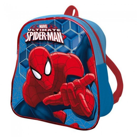 Mochila de Spiderman Ultimate Azul Spider man mochila para guarderia pequeña