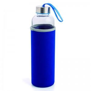 Botella de Cristal con protector de silicona neopreno para trabajo oficina